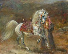 cavallo-arabo-purosangue-dipinto-storia